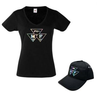 Dames cap met T-shirt Power Girl Roze