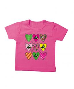 TS Baby T-shirt  Love Tractor Pink