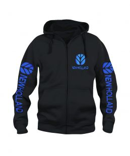 Zipper Borduur New Holland Blauw Logo