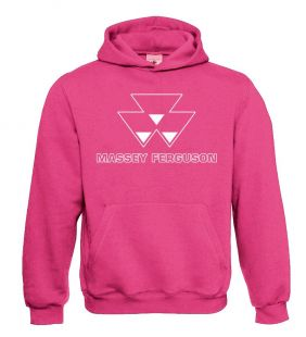 Massey Ferguson Sweater Hooded Pink Volw