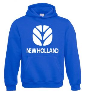 New Holland Sweater Hooded Royal Volw