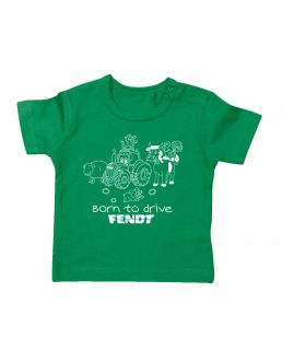TS Baby T-shirt Fendt  Groen Born To Drive