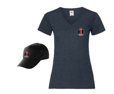 TS Dames T-shirt Internationel Harvester met Cap