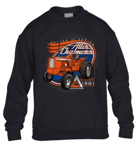 Allis Charmers Sweater Crew  Volw zwart