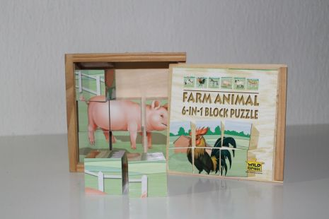 Farm Animal blokpuzzel