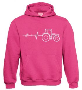 TS Sweater Hooded Tractor Pulse Pink  volw.