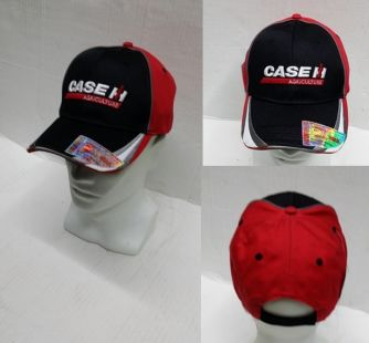 Case Cap red/black white grey stripe