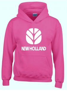 New Holland Sweater Hooded Pink Volw