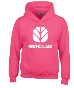 New Holland sweater hooded pink kids