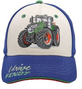 Fendt kids cap blue white tractor