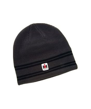 IH muts black striped beanie