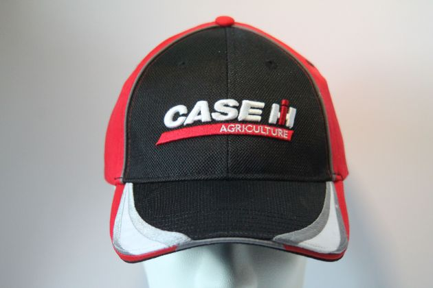 Case cap Black with red Bill