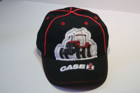 Case cap Kids black with tractor