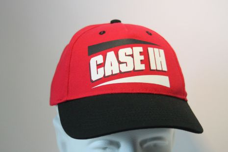 Case cap red/black white logo