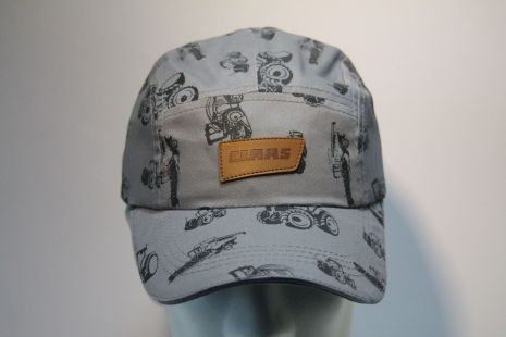 Claas cap grey-tractor and logo