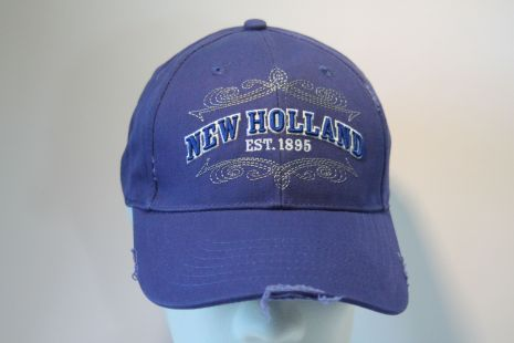 NH cap  Distressed Frayed royal twill